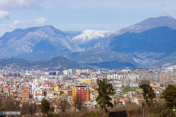 tirana cityscape - albania stock pictures, royalty-free photos & images