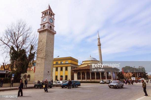 Tirana, Clock tower and Et'hem Bey Mosque