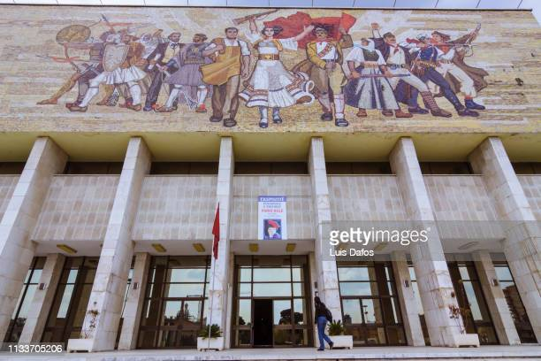 tirana, national museum of history - history museum stock pictures, royalty-free photos & images