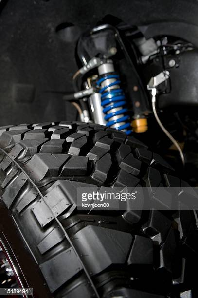 tire and shocks - suspension bridge stock photos and pictures