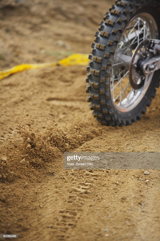 Tire and Tire Tracks : Stock Photo