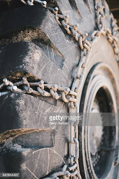 Tire Chains, Construction Vehical