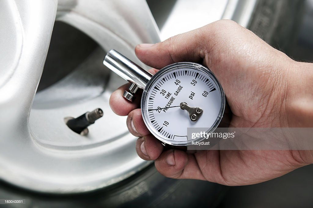 tire gauge : Stock Photo
