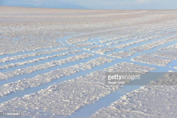 Tire tracks at Uyuni Salt Flats