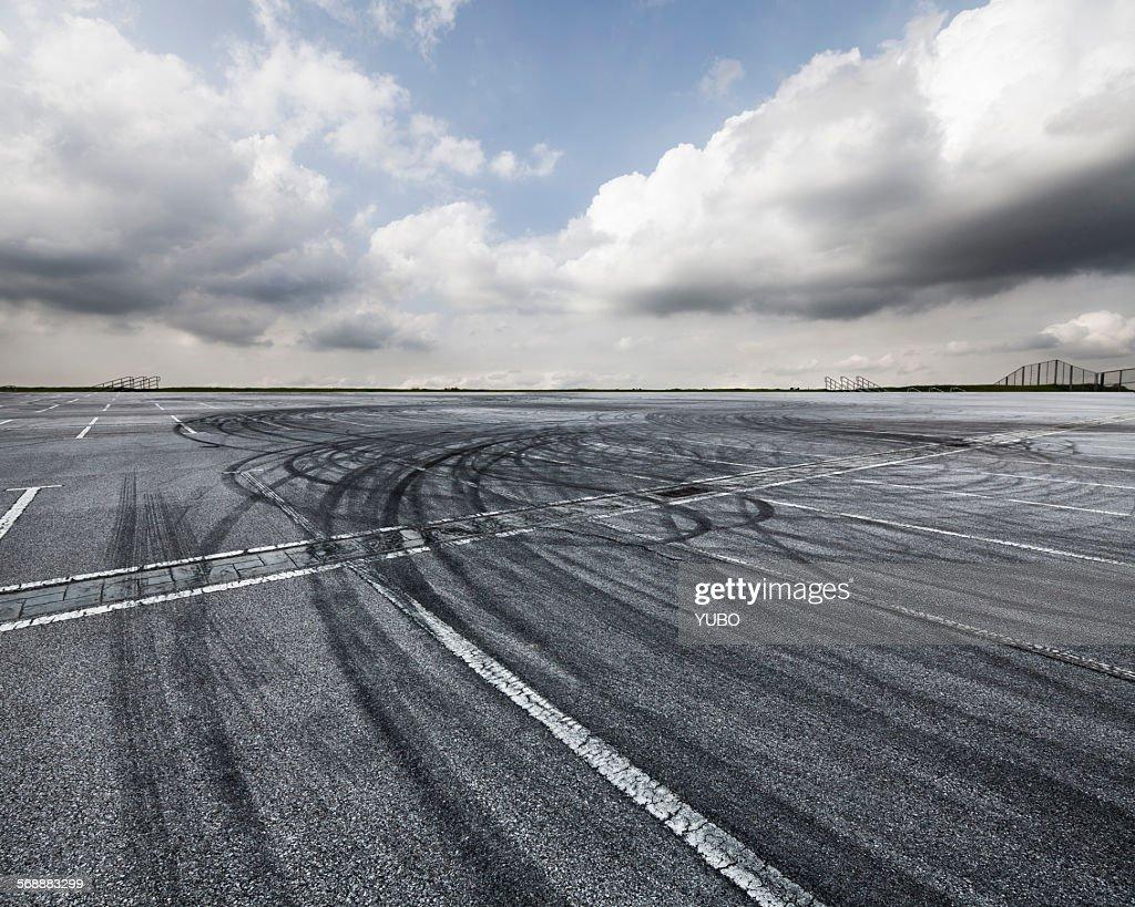 tire tracks : Stock Photo