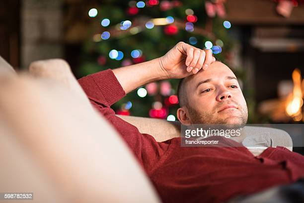tired after the christmas party - christmas after party stock pictures, royalty-free photos & images