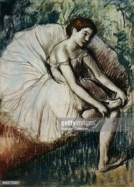 Tired Dancer by Edgar Degas