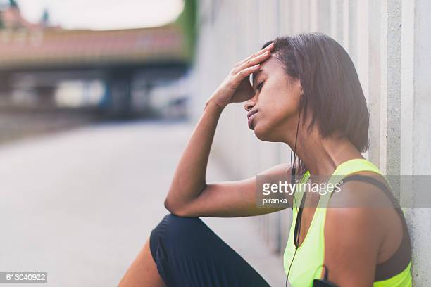 tired jogger - wasting time stock pictures, royalty-free photos & images