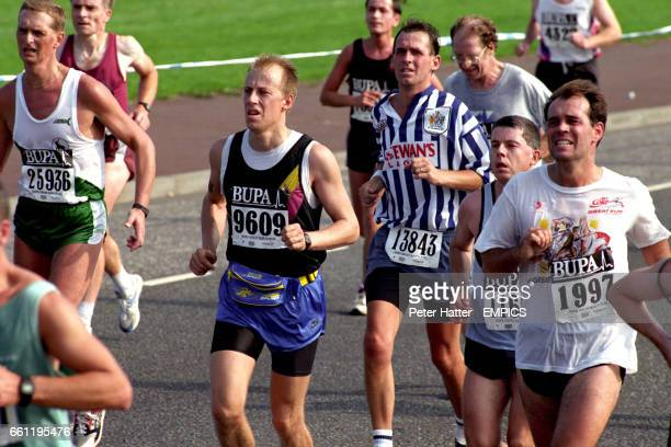 Tired looking runners during the race