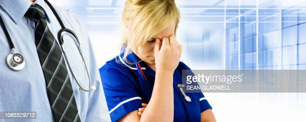 tired nurse - nhs staff stock pictures, royalty-free photos & images