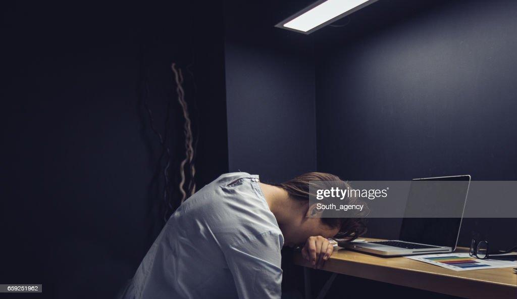 ¿Cansado del trabajo  : Foto de stock