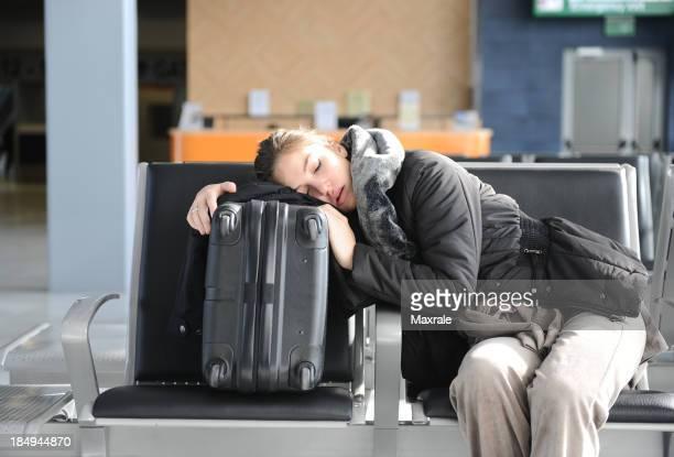 Tired passenger
