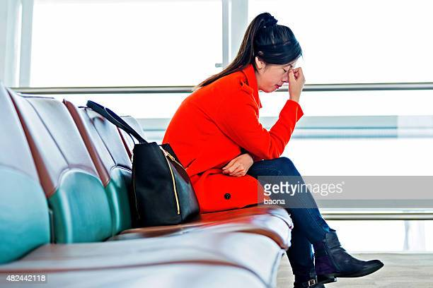 tired passenger - flying stock photos and pictures
