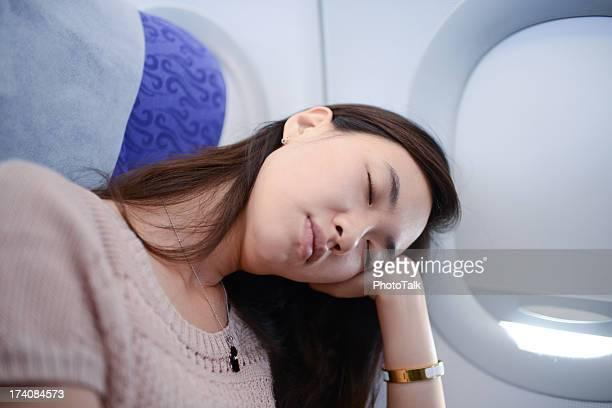 Fatigué dormir sur avion de passager-XXXL