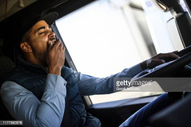 tired truck driver - jet lag stock pictures, royalty-free photos & images