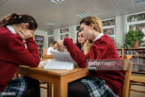 Tired Turkish Students Studing at University Library, Istanbul