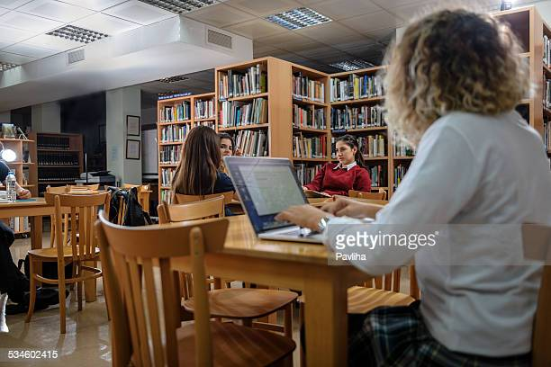 tired turkish students studing at university library, istanbul - literature stock pictures, royalty-free photos & images