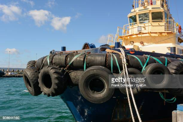 Tires On Ship At Sea