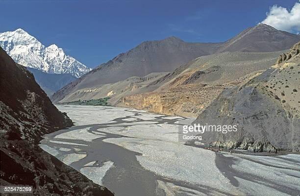 TIrigaon village in the Kali Gandaki Gorges Mustang