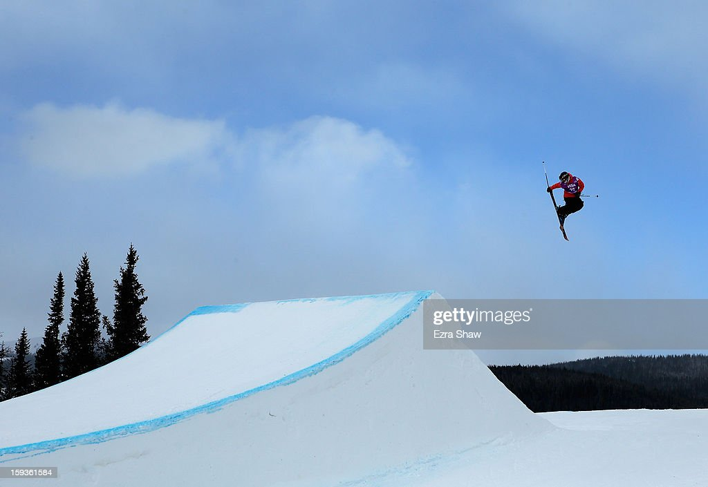 Tiril Sjaadstad Christiansen of Norway competes in the FIS Freestyle Ski World Cup slope style final at the U.S. Grand Prix on January 12, 2013 in Copper Mountain, Colorado.