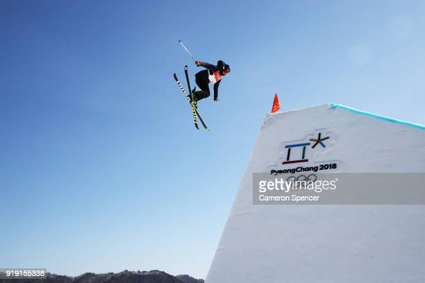 Tiril Sjaastad Christiansen of Norway competes during the Freestyle Skiing Ladies' Ski Slopestyle qualification on day eight of the PyeongChang 2018...