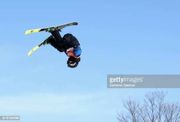 Tiril Sjaastad Christiansen of Norway competes during the Freestyle Skiing Ladies' Ski Slopestyle final on day eight of the PyeongChang 2018 Winter...