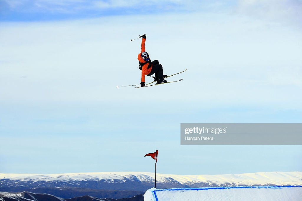 Tiril Sjaastad Christiansen of Norway competes in the FIS Freestyle Ski World Cup Slopestyle Finals during the Winter Games NZ at Cardrona Alpine Resort on August 28, 2015 in Wanaka, New Zealand.