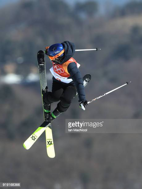 Tiril Sjaastad Christiansen of Norway competes in the Ladies Ski Slopestyle Qualification during the Freestyle Skiing on day eight of the PyeongChang...