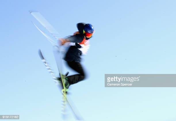 Tiril Sjaastad Christiansen of Norway in competes during the Freestyle Skiing Ladies' Ski Slopestyle training on day eight of the PyeongChang 2018...