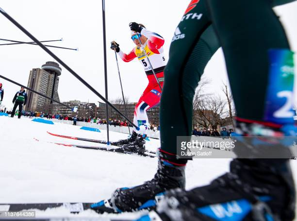 Tiril Udnes Weng of Norway competes in the sprint quarterfinal heat during the FIS Cross Country Ski World Cup Final on March 22 2019 in Quebec City...