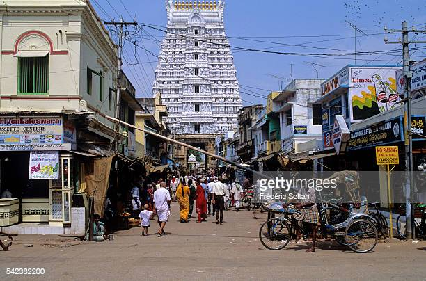 Tirupati is a city of pilgrimage and is considered as the most visited place of worship in the world View of Tirumala Venkateswara Temple | Location...