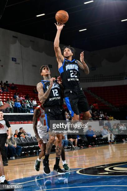 D Tisdale of the Lakeland Magic shoots against the College Park Skyhawks during the game on November 16 2019 at RP Funding Center in Lakeland Florida...