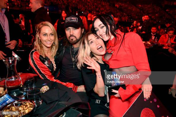 Tish Cyrus and singersongwriters Billy Ray Cyrus Miley Cyrus and Noah Cyrus attend the 2017 iHeartRadio Music Awards which broadcast live on Turner's...