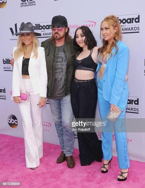 Tish Cyrus Billy Ray Cyrus Noah Cyrus and Brandi Cyrus arrive at the 2017 Billboard Music Awards at TMobile Arena on May 21 2017 in Las Vegas Nevada