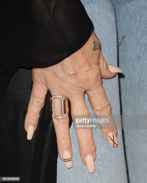 Tish Cyrus jewelry and nail detail attends the 2017 NBCUniversal summer press day The Beverly Hilton Hotel on March 20 2017 in Beverly Hills...