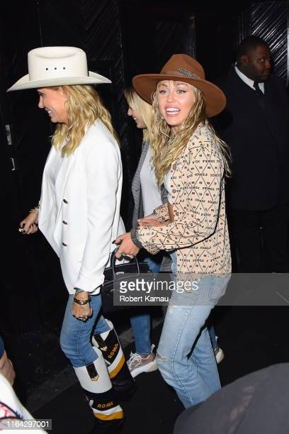 Tish Cyrus Kaitlynn Carter and Miley Cyrus seen out and about in Manhattan on August 26 2019 in New York City