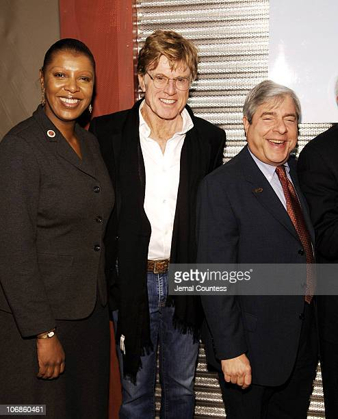 Tish James Robert Redford and Marty Markowitz during Sundance Institute and the Brooklyn Academy of Music Announce Artistic Collaboration in Film...