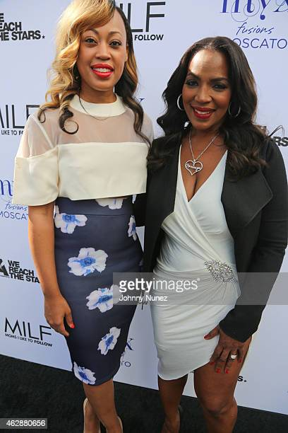 Tish Taylor and Tina Douglas attend MILF Celebration Of Entertainment Mothers on February 6 2015 in Beverly Hills California