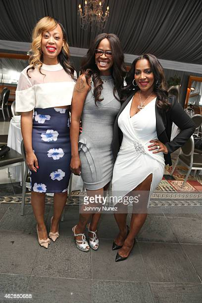 Tish Taylor Loraine Smith and Tina Douglas attend MILF Celebration Of Entertainment Mothers on February 6 2015 in Beverly Hills California