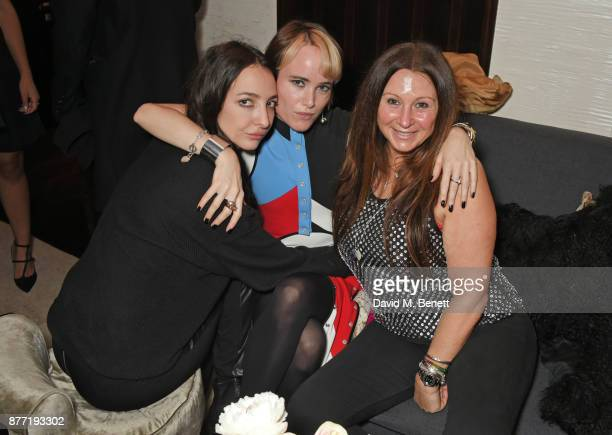 Tish Weinstock Julia Hobbs and Fran Cutler attend Louis Vuittons Celebration of GingerNutz in Vogue's December Issue on November 21 2017 in London...