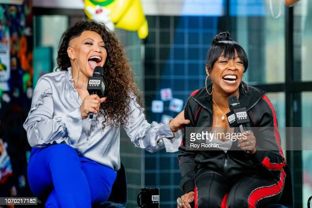 Tisha Campbell and Tichina Arnold discuss The Neighborhood with the Build Series at Build Studio on November 20 2018 in New York City