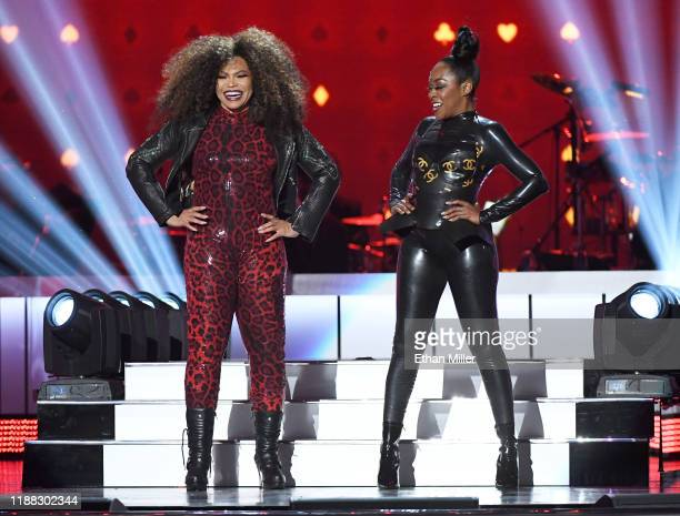 Tisha Campbell and Tichina Arnold perform onstage at the 2019 Soul Train Awards presented by BET at the Orleans Arena on November 17 2019 in Las...