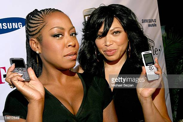Tisha Campbell and Tichina Arnold with Samsung t509