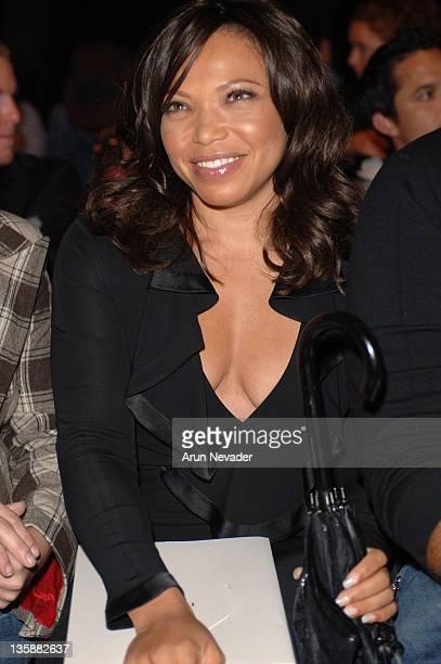 Tisha Campbell front row at Dina BarEl Spring 2006