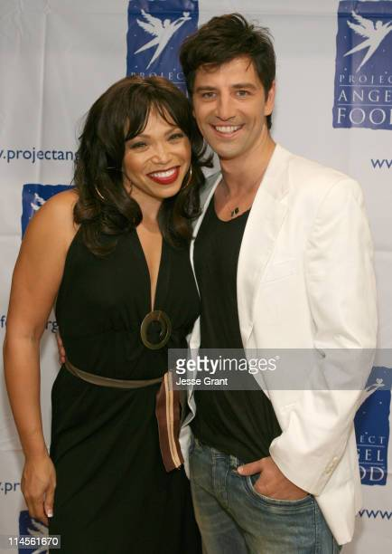 """Tisha Campbell Martin and Sakis Rouvas during """"inCONCERT"""" Benefit for Project Angel Food at Howard Fine Theater in Hollywood, California, United..."""