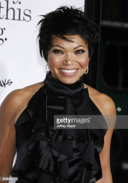 Tisha Campbell Martin arrives at the Los Angeles Premiere of Zack And Miri Make A Porno at the Grauman's Chinese Theater on October 20 2008 in Los...
