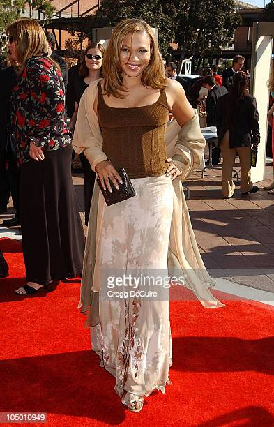 Tisha CampbellMartin during 2002 Creative Arts Emmy Awards Arrivals at Shrine Auditorium in Los Angeles California United States