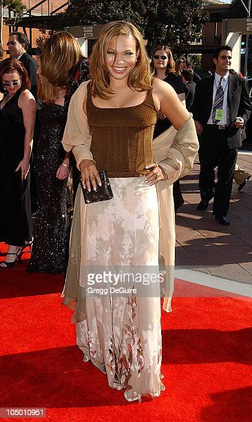 Tisha Campbell-Martin during 2002 Creative Arts Emmy Awards - Arrivals at Shrine Auditorium in Los Angeles, California, United States.