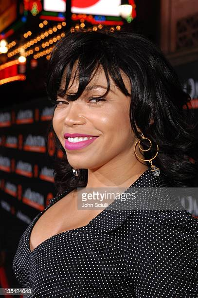 Tisha CampbellMartin during The Seat Filler Los Angeles Premiere Red Carpet at El Capitan in Los Angeles California United States
