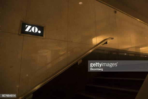 Tishman Speyer Properties LP Zo program and app signage is displayed at Rockefeller Center in New York US on Monday Feb 26 2018 Tishman Speyer...